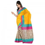 Lucknow Embroidery printed Sarees