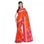 Lucknow Embroidery Kanjeevaram silk sarees